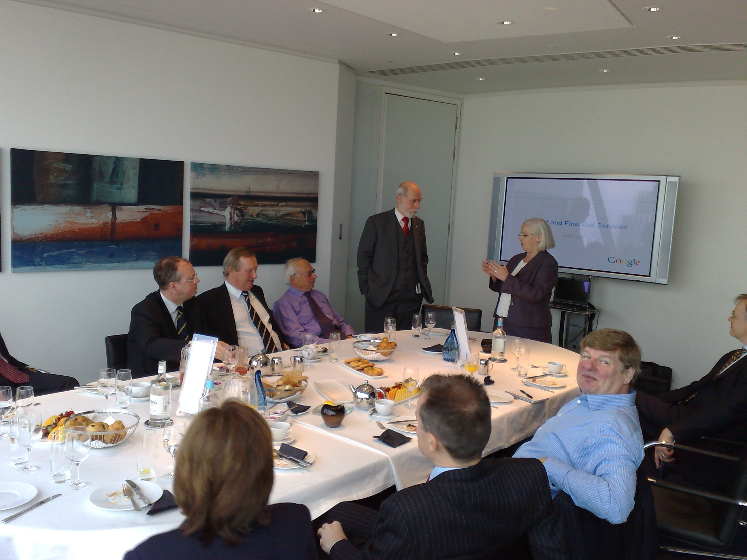 Picture of breakfast meeting attendees